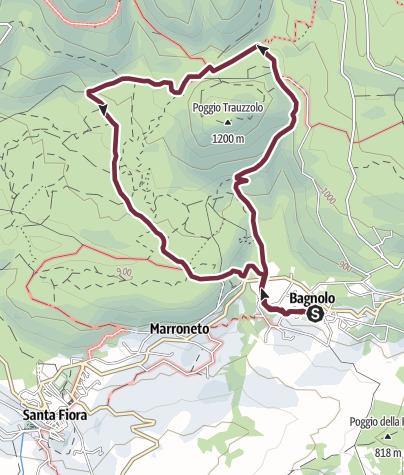 Map / AMIATA SENTIERO N.07 SANTA FIORA  BAGNOLO ANELLO DI SASSO CORBAIO - AMIATA - TOSCANA