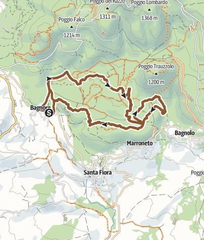 Map /  SANTA FIORA Giro M.T.B  BAGNORE - AMIATA - TOSCANA
