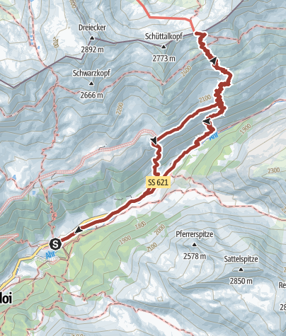 Map / On historic paths at Casere-Kasern