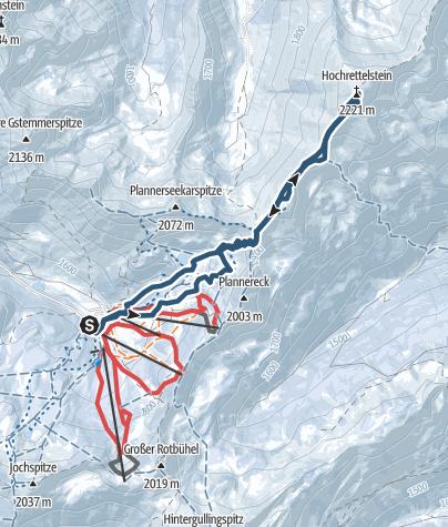 Karte / Hochrettelstein leicht, Schigebiet Planneralm