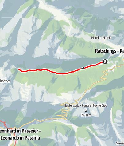 "Mappa / Sentiero ""Pfeifer Huisele"""