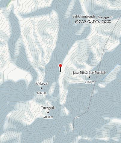 Karte / Refuge du Toubkal