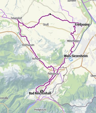 Karte / Radtour Bier & Salz: Das weiße und das flüssige Gold