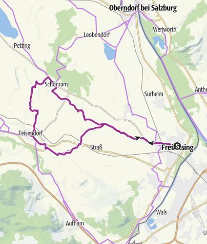 Karte / Radtour: Rupertiwinkel Dreieck