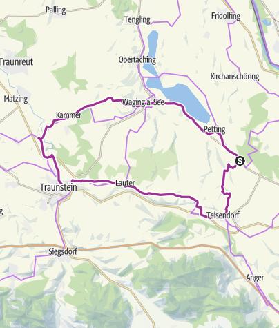 Karte / Radtour: Stadt, Land, Bier