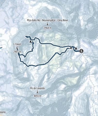 Karte / Heiligkreuzkofel - Zehner - Eigene Rundtour