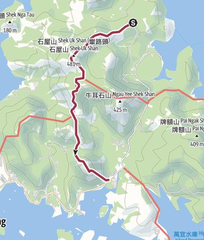 Map / 老虎騎石大山峒石屋山畫眉山雷打石v3