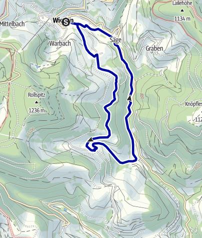 Karte / Über den Laitenbach nach Königshütten