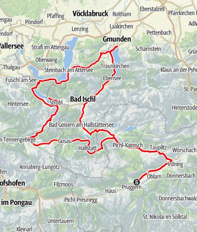 Karte / Salzkammergut Seen-Tour