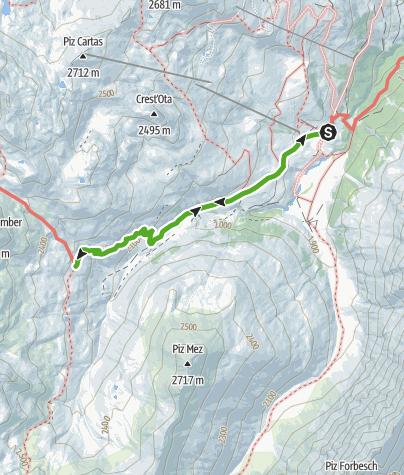 Karte / Radons - Alp Schmorras