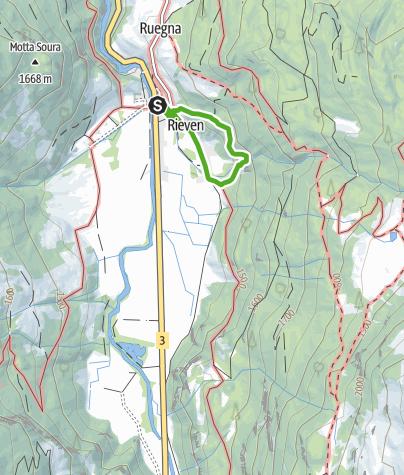 Map / Wasserfall Rona