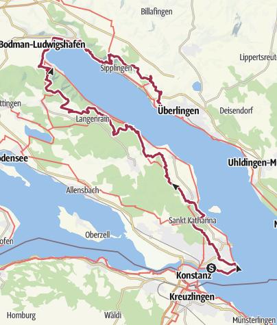 Karte / Genusswandern auf dem Premiumweg SeeGang am 23. April 2017