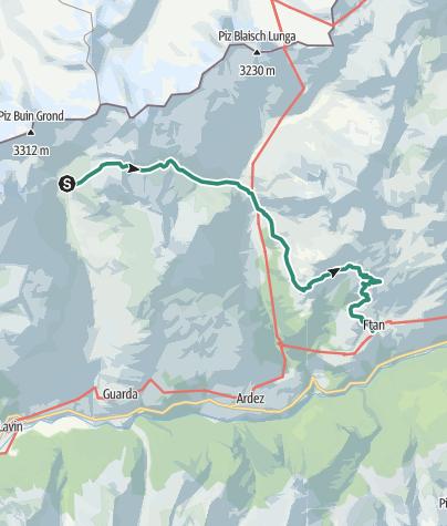 Karte / Chamonna Tuoi - Ftan