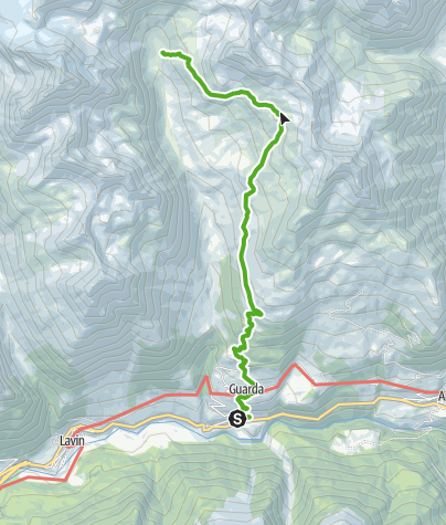 Karte / Guarda - Lai Blau - Chamonna Tuoi
