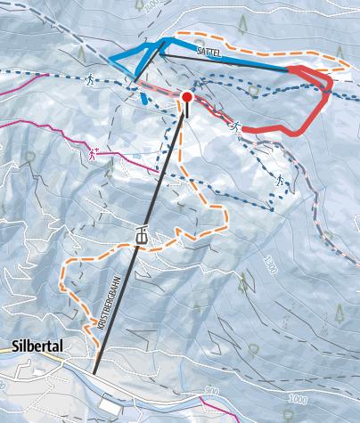 Karte / Kristberg im Montafon