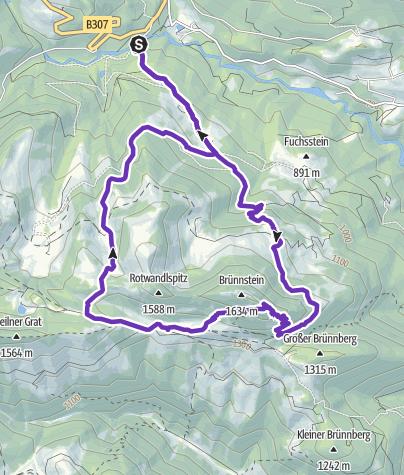 Karte / Brünnstein Runde