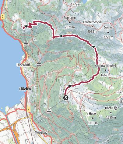 Karte / Wildheuerpfad am Rophaien