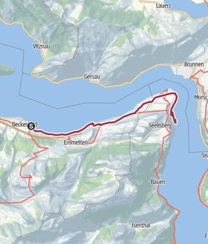 Map / Waldstätterweg 7. Etappe Beckenried - Rütli