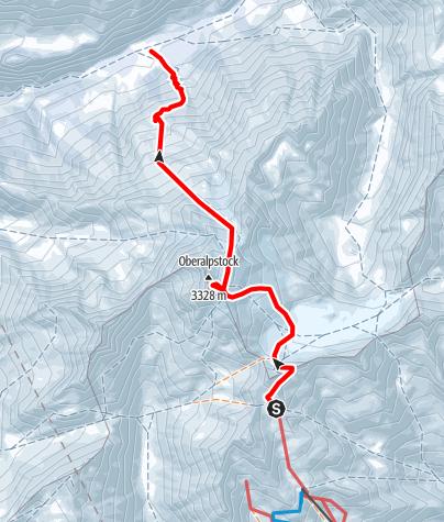Map / Oberalpstock - Staldenfirn