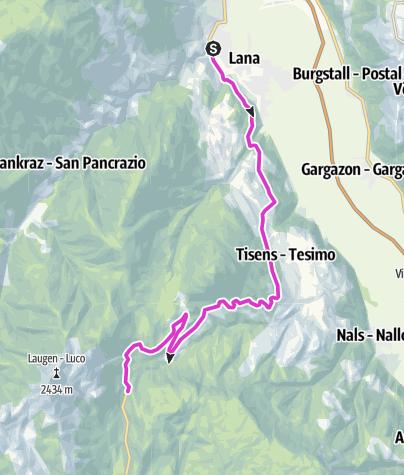 Karte / Mit dem Rennrad auf den Gampenpass