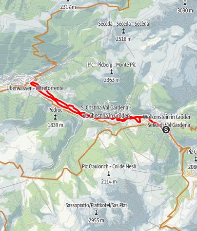 Karte / Grödner Talrunde