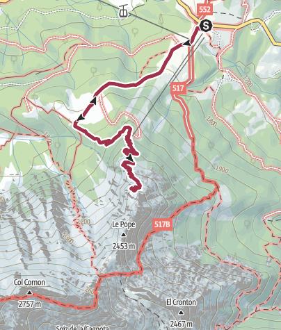 Karte / Wanderung vom Karer Pass zur Poppekanzel