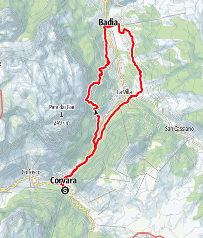 "Map / Discovering the legend of ""The Farmer of Corvara and the Ogre"""