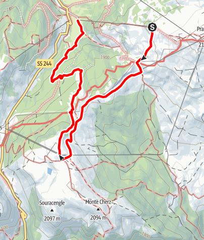 Karte / Leichte Familienwanderung Planac - Cherz