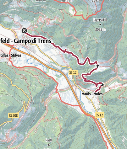 Map / From Maria Trens to Mules