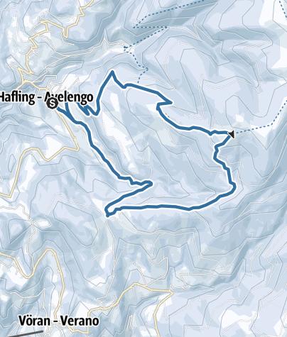 Karte / Winterliche Drei-Almen-Rundwanderung