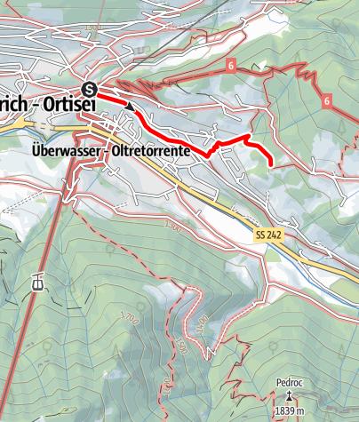 Karte / Spaziergang zum Grohmann Denkmal