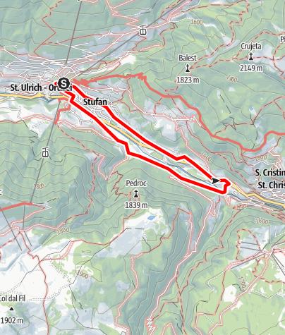 Map / Ortisei circular trail