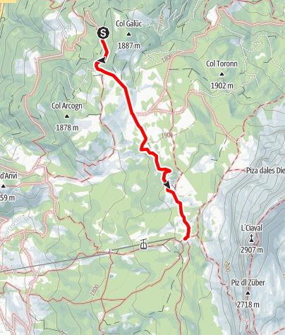 Cartina / Escursione ai prati d'Armentara