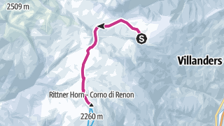 Karte / Winterwanderung von der Villanderer Alm zum Rittner Horn