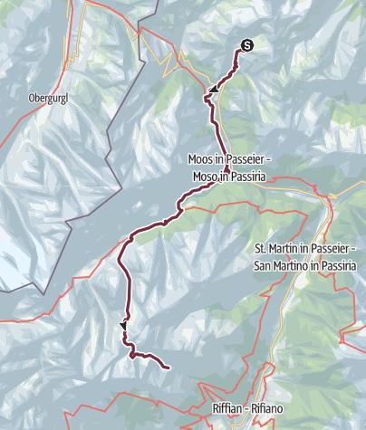 Cartina / Sentiero di pellegrinaggio di San Romedio nella Val Passiria