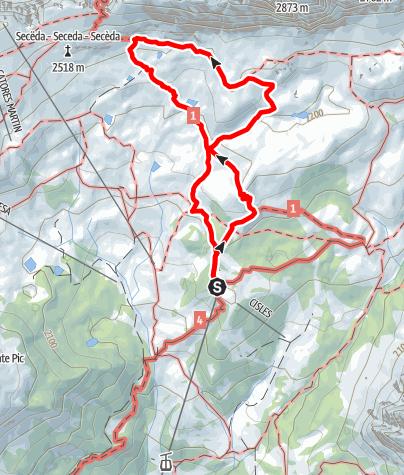 Cartina / Escursione UNESCO sotto le Odle