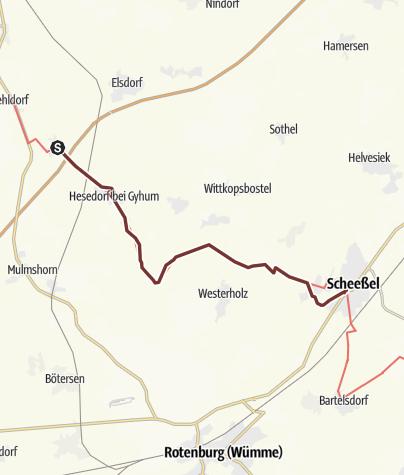 Karte / VIA ROMEA Gyhum - Scheeßel (04)