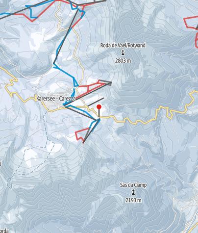 Cartina / Val di Fassa/Carezza