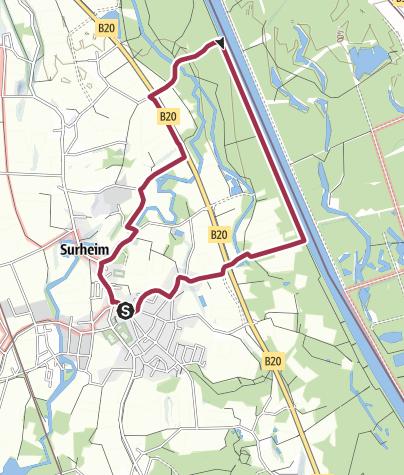 Karte / Salzachrundweg - Rundweg Nr. 5