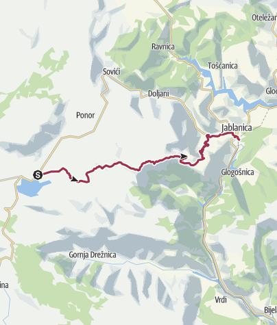 Map / Via Dinarica BH-W-05 Čvrsnica mountain and Jablanica city