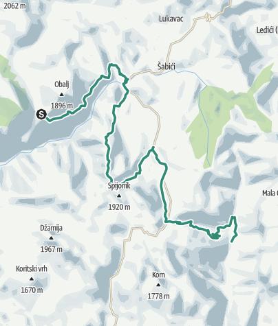 Map / Via Dinarica BH-W-09 Lukomir via Visočica mountain to Ljuta