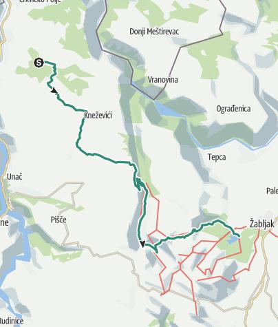 Map / Via Dinarica CG-W-02 Durmitor Mountain