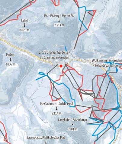 Map / Val Gardena / Alpi di Siusi