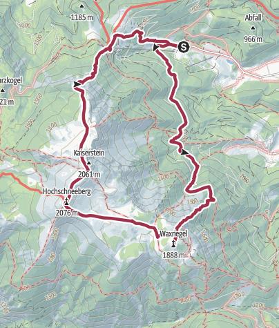 Carte / Schneeberg Wanderung 6/6/2020