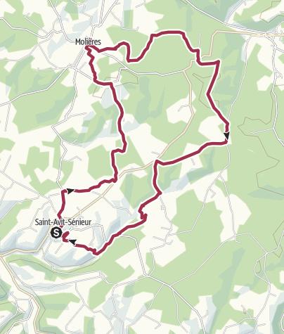 Map / Rundwanderung in der Region der Bastiden