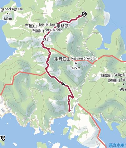 Map / 老虎騎石~石屋山Shek Uk Shan~榕北走廊