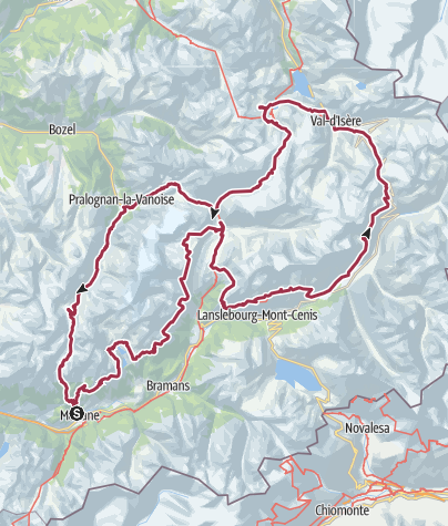 Map / tour de la vanoise