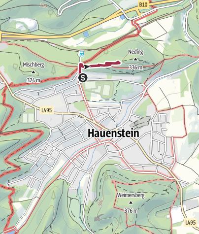 Mapa / Zustieg Nedingfelsen