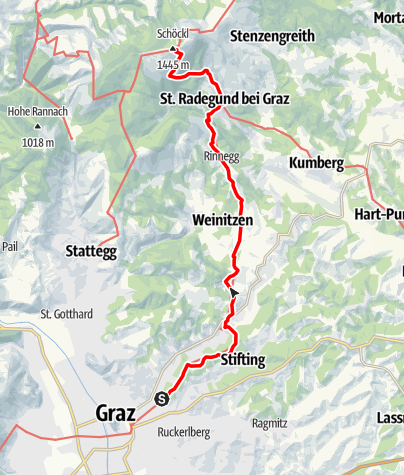 Karte / 06 Steirischer Mariazellerweg, E05: Graz - Schöckl