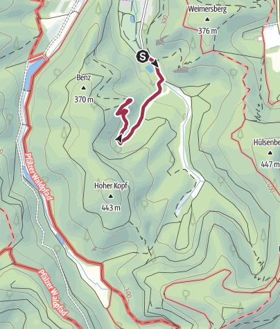 Map / Zustieg Lanzenfahrter Felsen